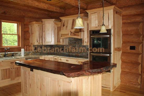 Wood countertop handcrafted using a burl wood slab cut for Burl wood kitchen cabinets