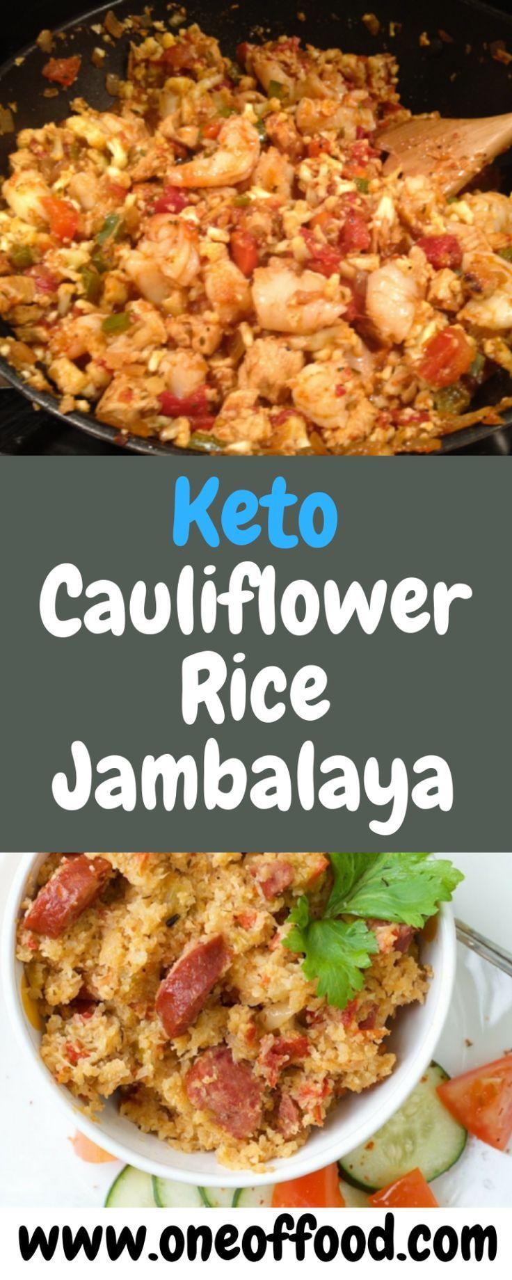 Keto Cauliflower Rice Jambalaya - One of food -   22 riced cauliflower recipes ideas