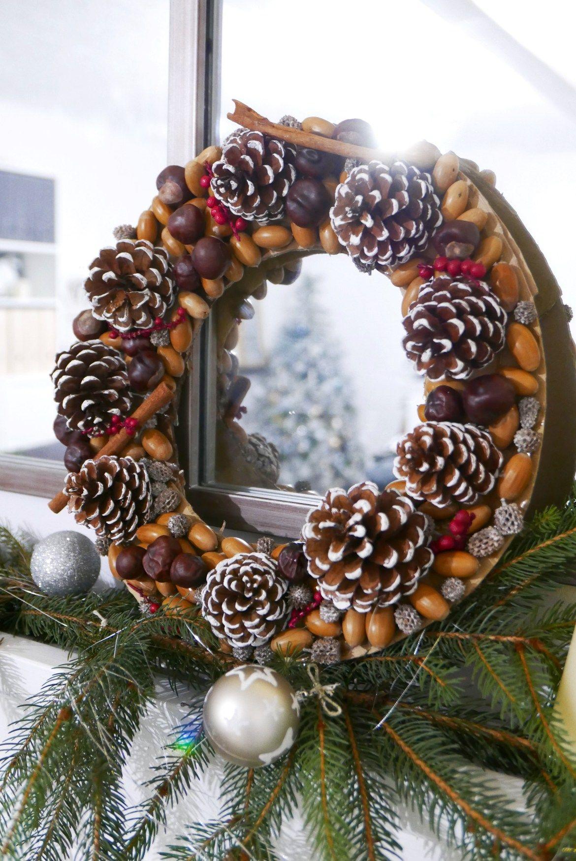 DIY notre Couronne de Noël nature zozomum & cie