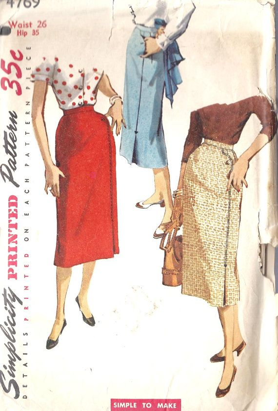 1950\'s Sewing Pattern | maniqui | Pinterest