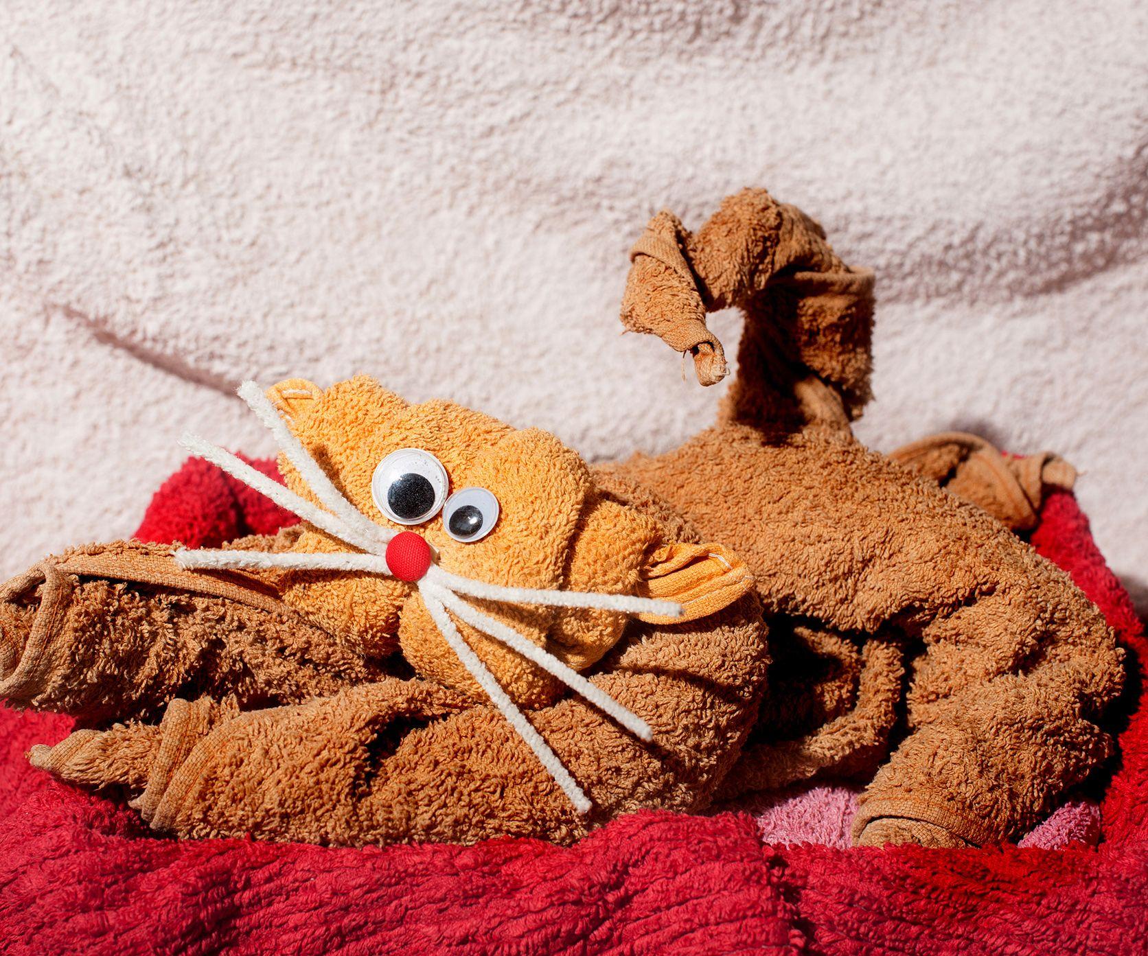 Badezimmer Handtücher ~ Tiere aus handtüchern falten handtücher diy deko und handtücher