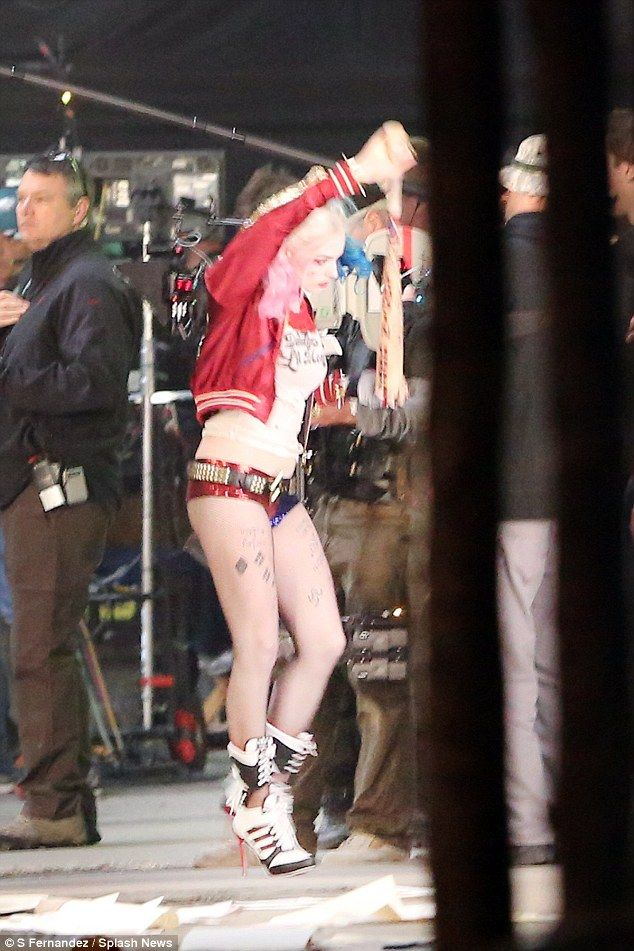 Margot Robbie shoots first scenes as Harley Quinn in Suicide Squad