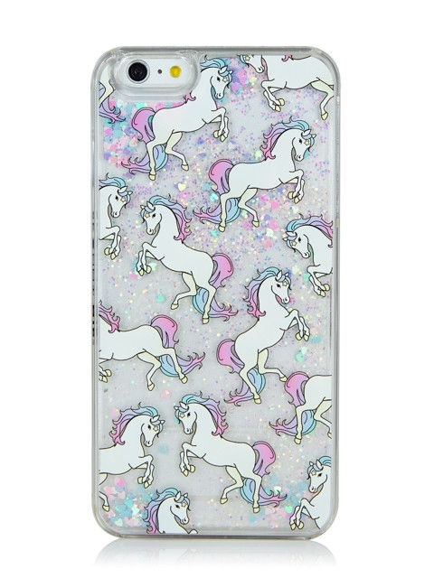 the latest c1d4d 52ea9 Skinnydip iPhone 6/6S Plus Unicorn Glitter Case | I want all of the ...