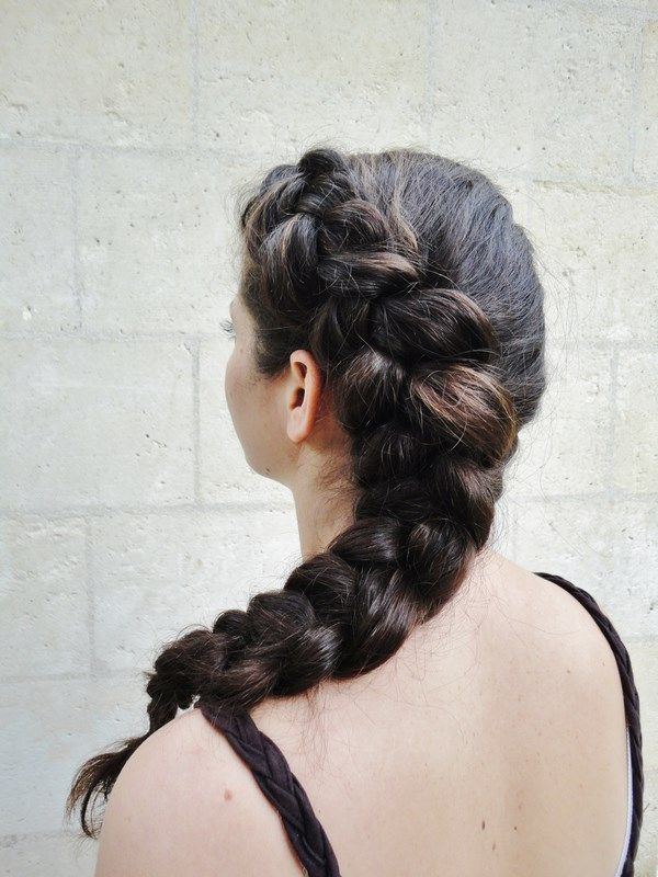 Half Crown Dutch Braid 2 Mathilde Wurtz Tresse Hollandaise Beaux Cheveux Coiffure