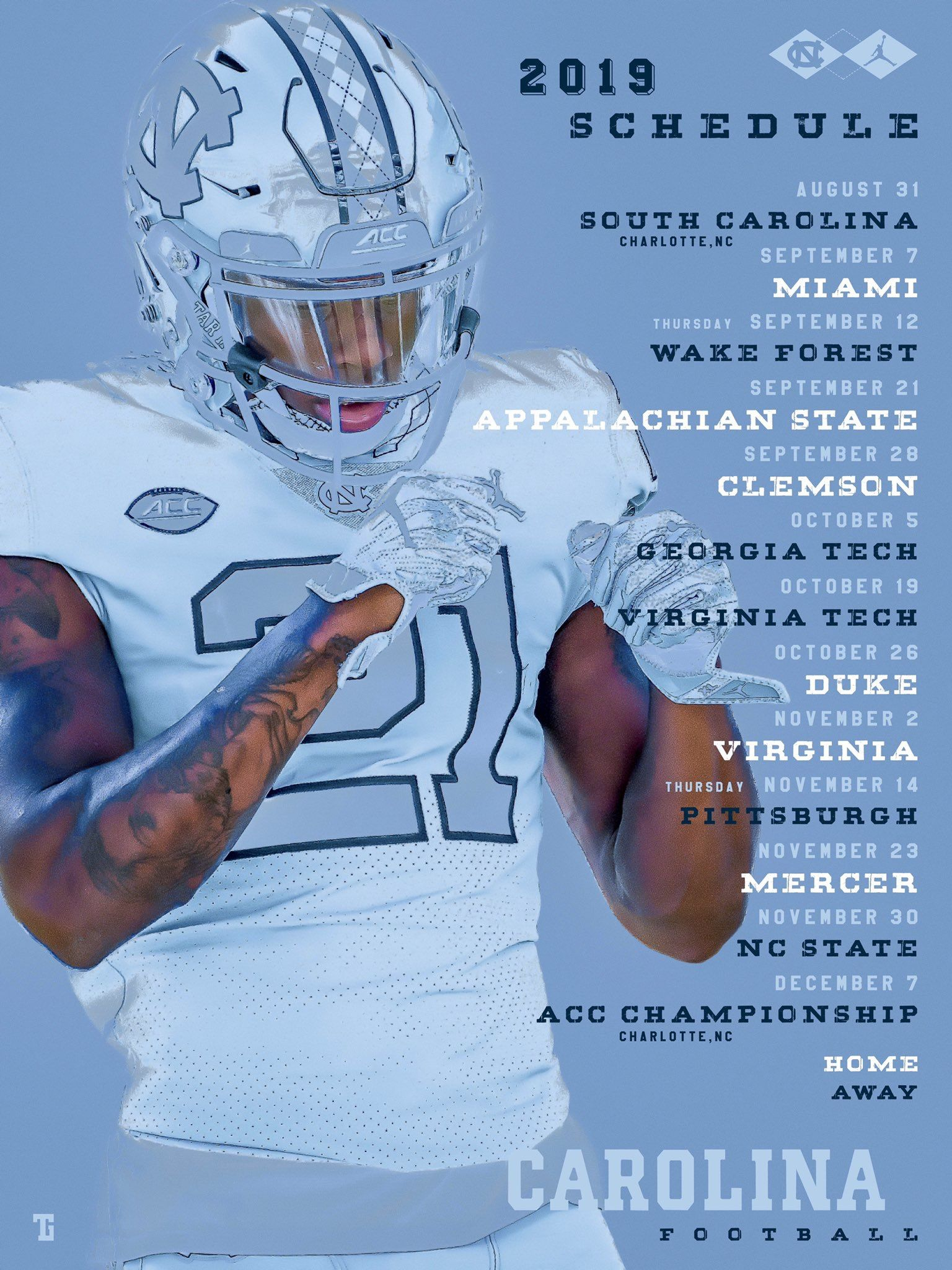 Pin by Bobby Gentry on UNC FOOTBALL Nc state, Virginia