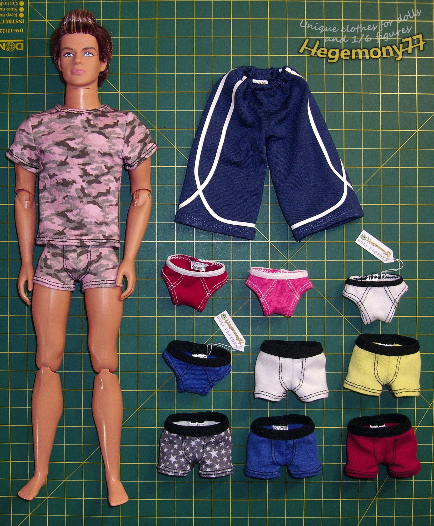 Ken doll with custom clothes - boxers briefs mens underwear ...
