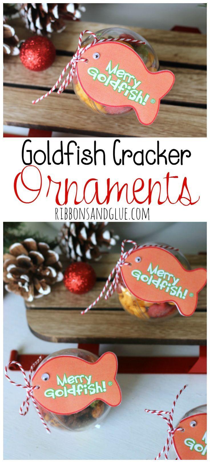Goldfish Cracker Christmas Ornaments | Goldfish crackers ...