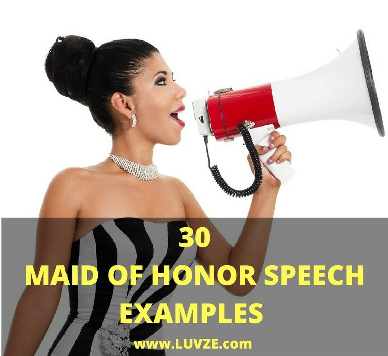 Funny Wedding Speeches Sister Of The Groom: 30 Maid Of Honor Speech Examples