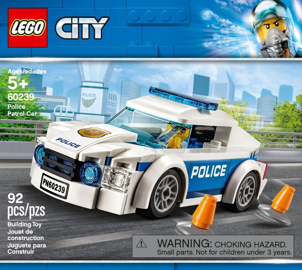 Lego City Police Patrol Car 60239 6259422 Best Buy Lego City Police Lego City Police Patrol