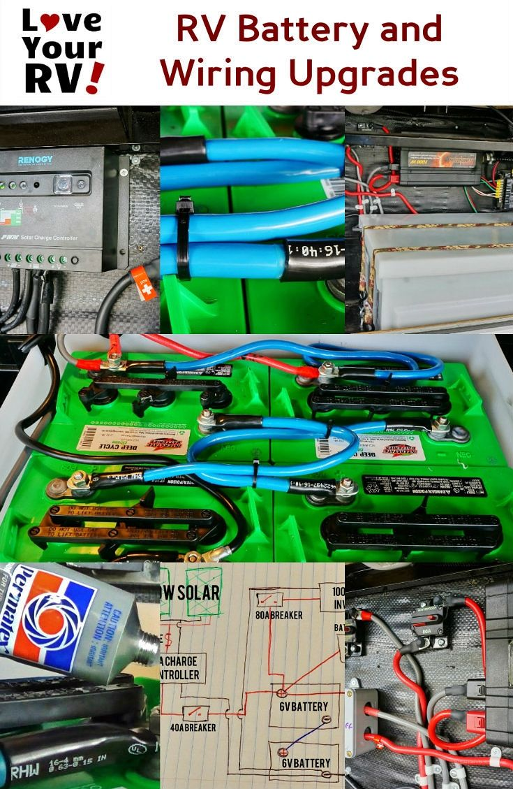 rv battery and 12 volt wiring system upgrades love your rv blog http  [ 735 x 1129 Pixel ]