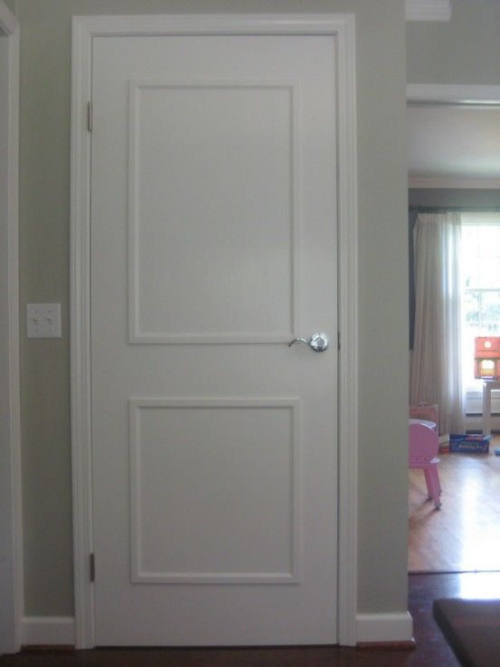 Trim On A Flat Door To Create A Panel Look Add Detail And