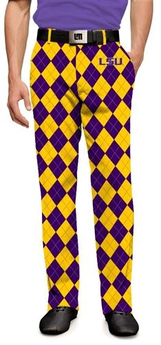 f8e27ac05a499 Loudmouth Golf Mens Made-To-Order Pants - LSU Tigers. Buy it @ ReadyGolf.com