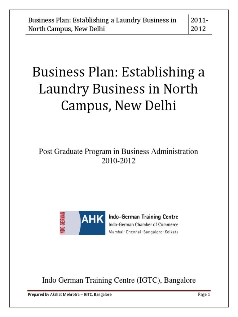 project laundry business economics laundromat plan sample