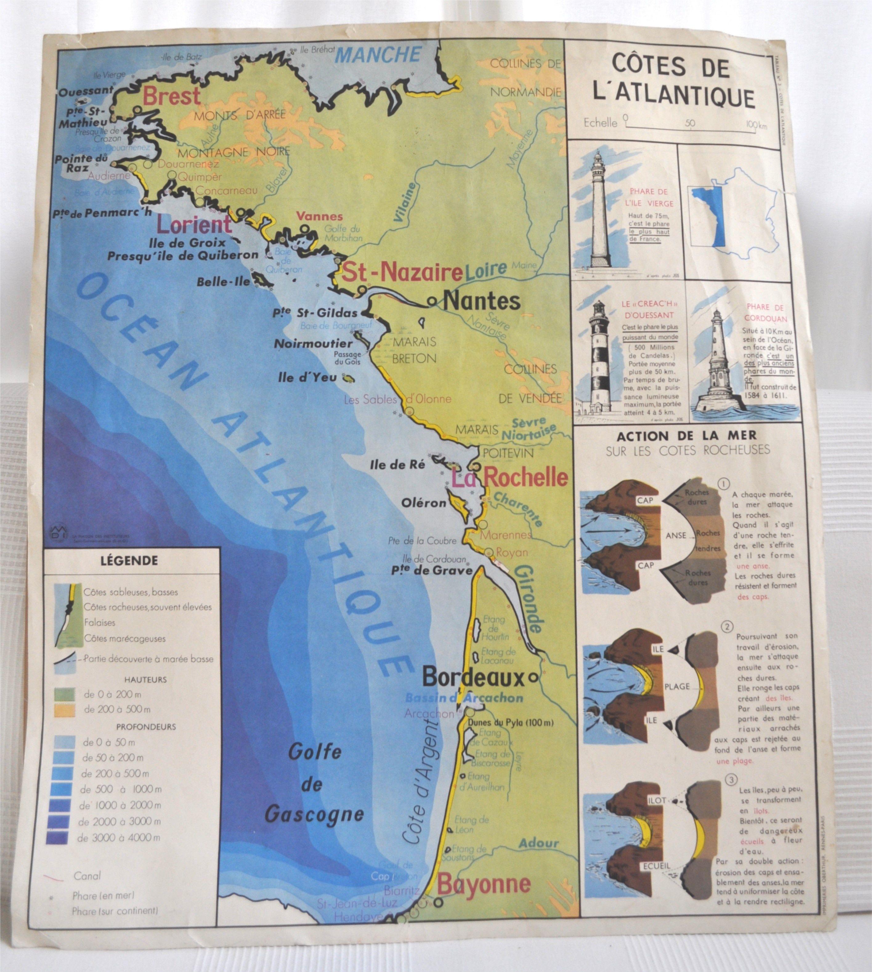 Carte Scolaire M D I Cotes De L Atlantique Climat De La France
