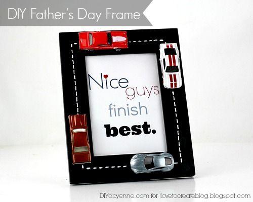 iLoveToCreate Blog: DIY Father\'s Day Frame | crafts | Pinterest ...