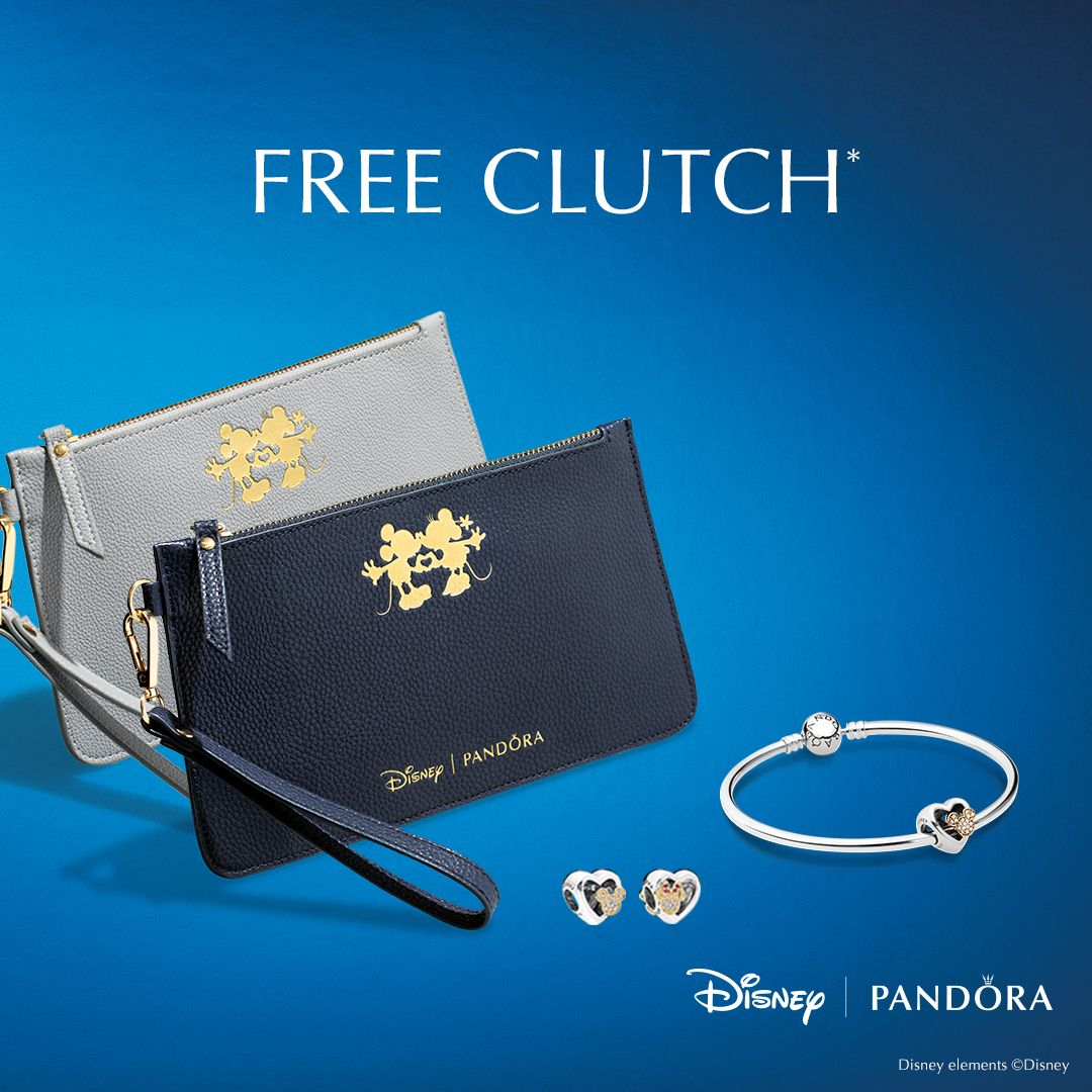 419beedcc Get your FREE clutch when you purchase the Limited Edition Mickey & Minnie  Love Icons charm from PANDORA Jewelry! While supplies last, see store or  details.