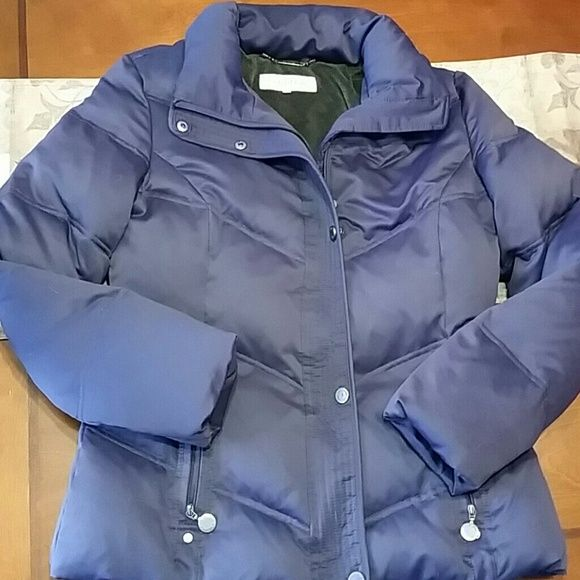 Calvin Klein Quilted Coat Gorgeous coat with great detailing. Super comfy and warm. Eggplant purple in color. Make a reasonable offer. Calvin Klein Jackets & Coats