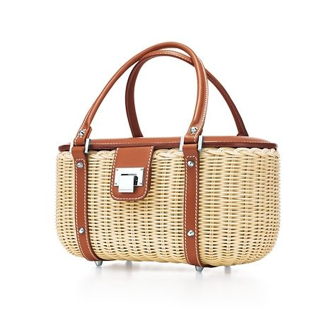Tiffany & Co. - Cleo bucket top handle purse handbag basket United States