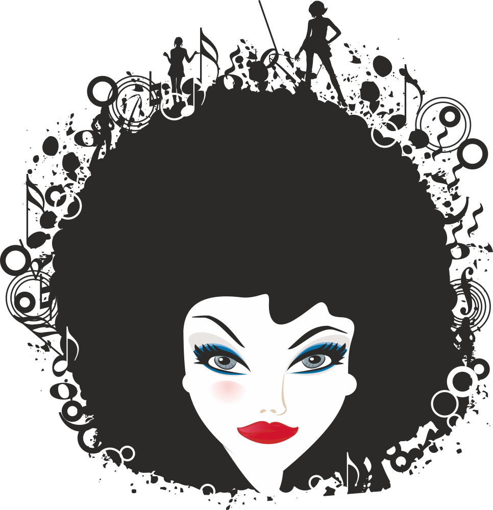 Woman Face Vector Illustration 3 Free Vector cdr Download