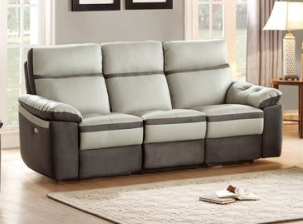 Homelegance Otto Collection Genuine Top Grain Leather Power Reclining Sofa  8319 3PW