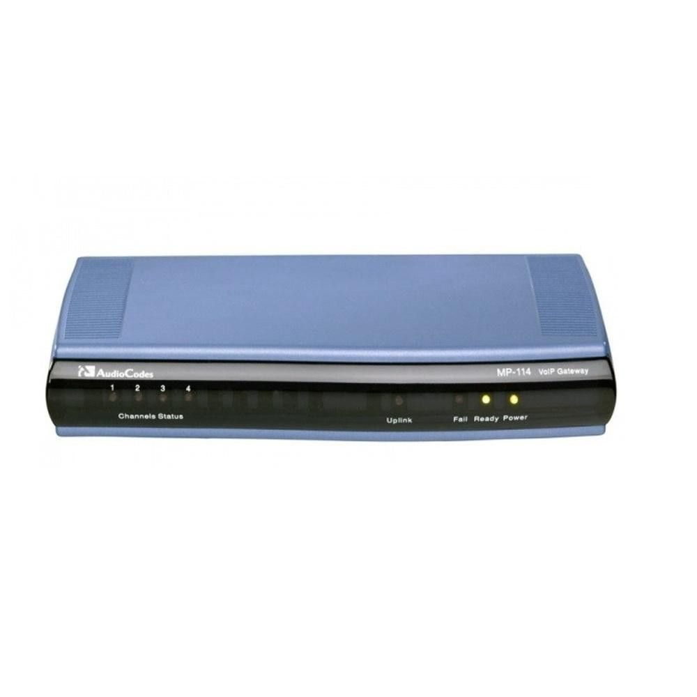 Audiocodes Mediapack Series MP-114 4-Ports VoIP Gateway MP114-4O-SIP