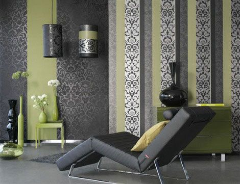 green and grey colour scheme - google search | back room ideas