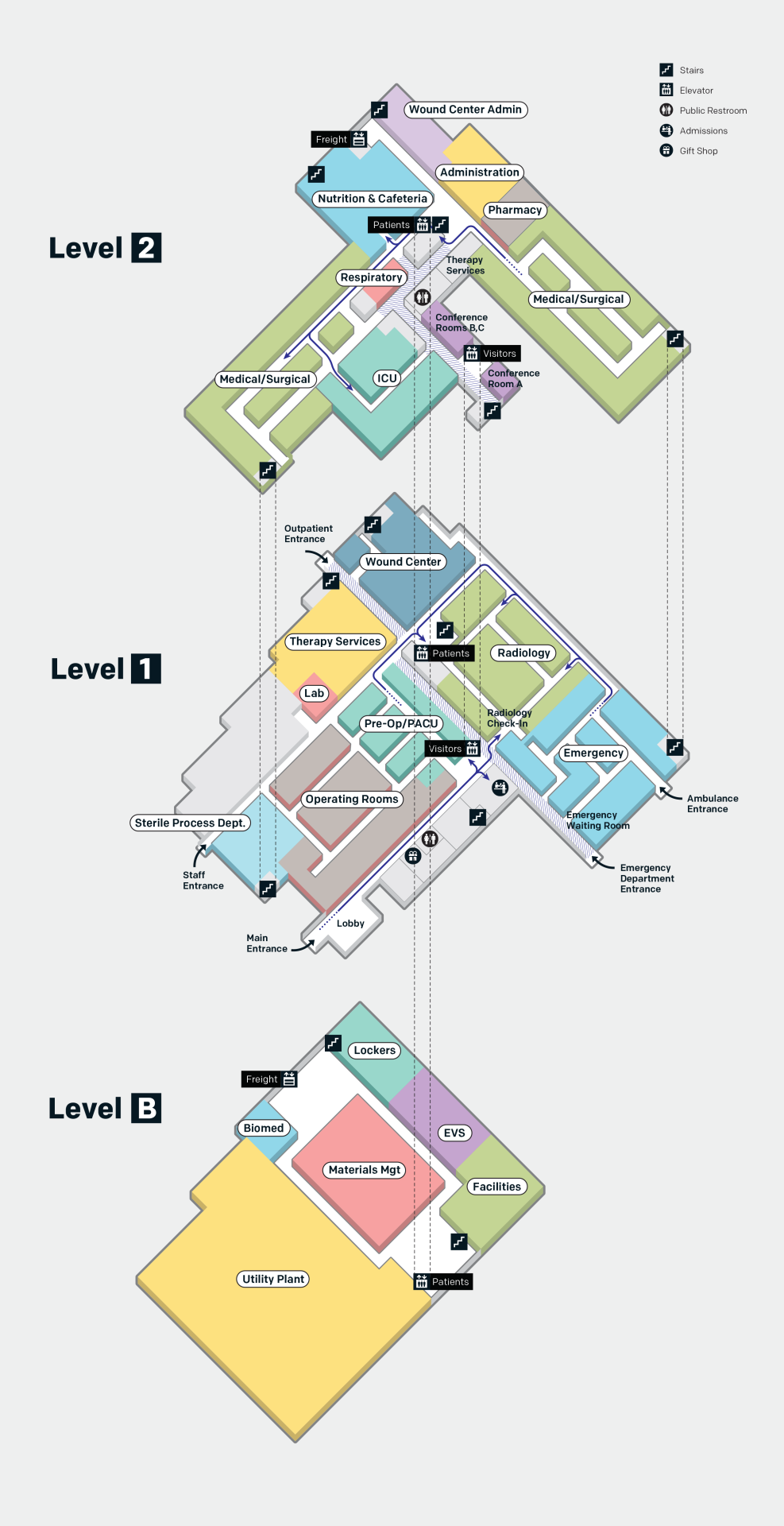 Had Fun Making Floor Maps For A Local Hospital Mapping Twin