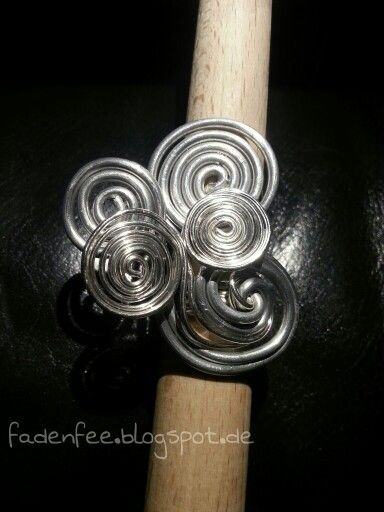 Ring aus Aluminium und Silberdraht   Schmuck   Pinterest   Draht ...