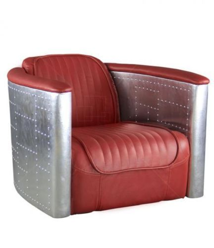 Awesome Aviator Chair Arne Jacobsen Vintage Red Leather Aluminium Pabps2019 Chair Design Images Pabps2019Com