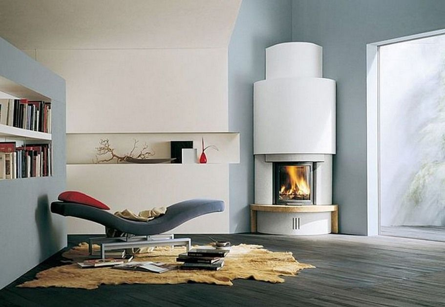 Corner Designs For Living Room Classy Modern Round Design Idea For Corner Fireplace  My Southwest Adobe Inspiration Design