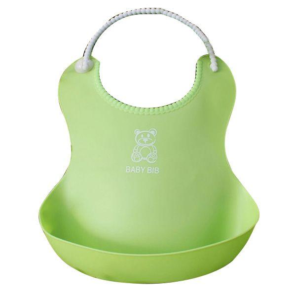Washable Silicone Infant Baby Kids Feeding Bib Saliva Dripping Bib Food Catcher