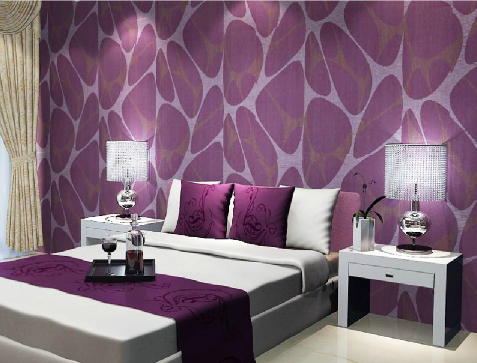 Best Deep Embossed Purple Wallpaper For Bedroom Jpg 959×730 400 x 300