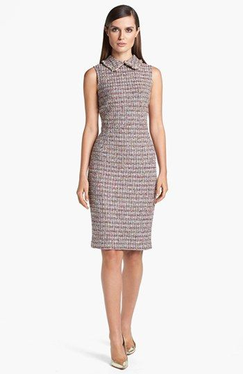 St John Collection Glitter Tweed Sheath Dress Available At Nordstrom Perfect