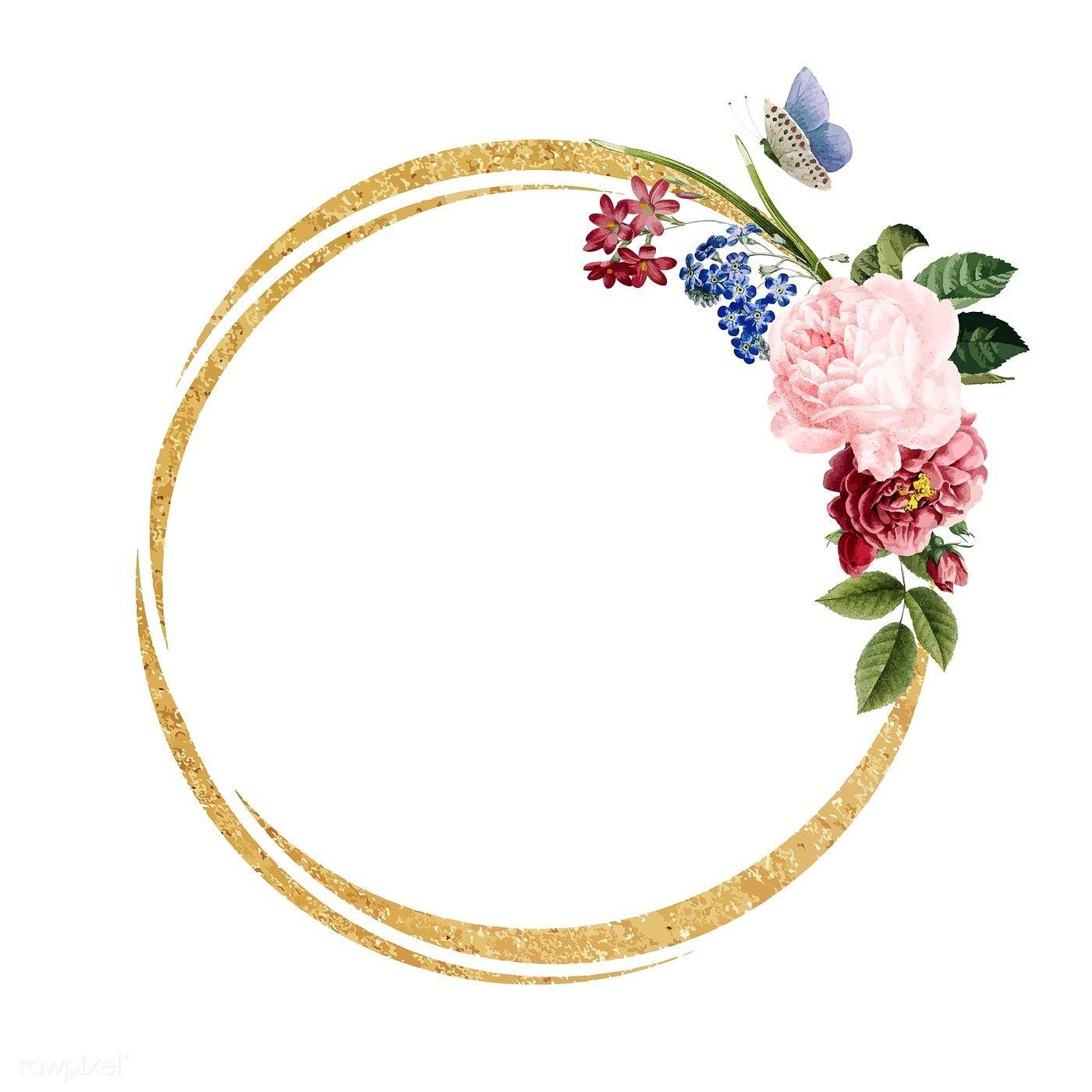 Download premium vector of Blank floral frame card
