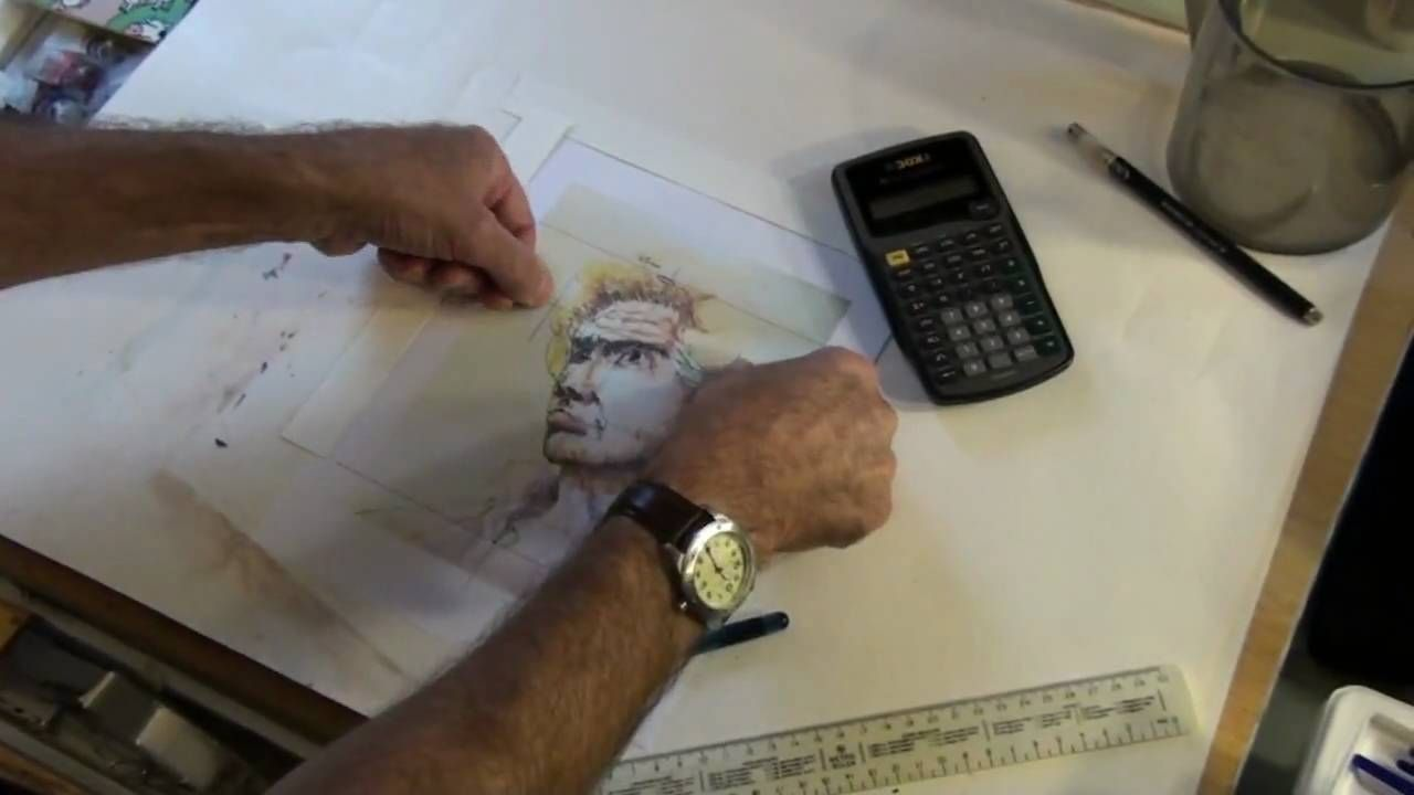 how to copy an image onto canvas using a computer and a projector