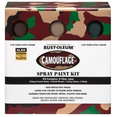 Rust Oleum Specialty 12 Oz Camouflage Spray Paint Kit 6
