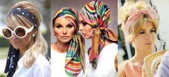 Resultado de imagem para lenços na cabeça anos 60
