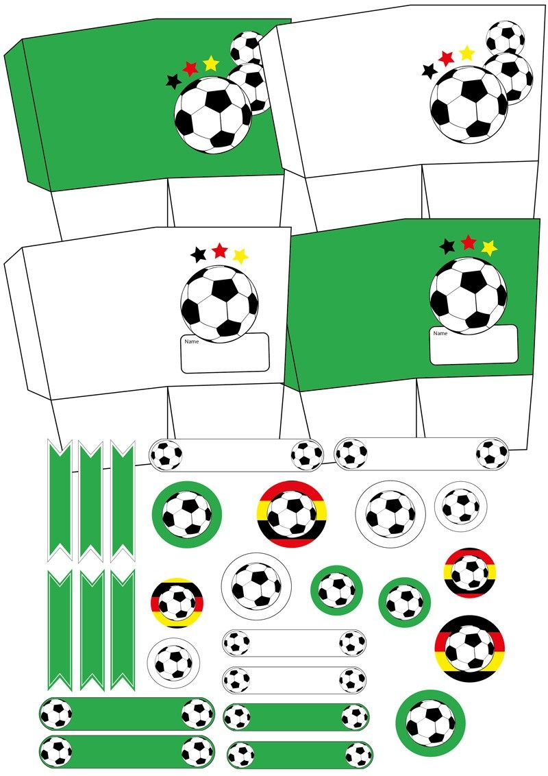 Fußball Deko basteln für WM und WM | Fussball deko, Deko basteln und ...