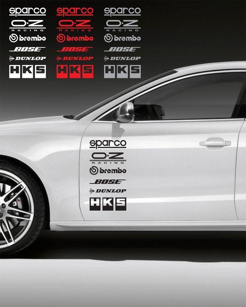 12pcs racing sponsors logo sport sticker emblem decal for any car bmw 7 oracal