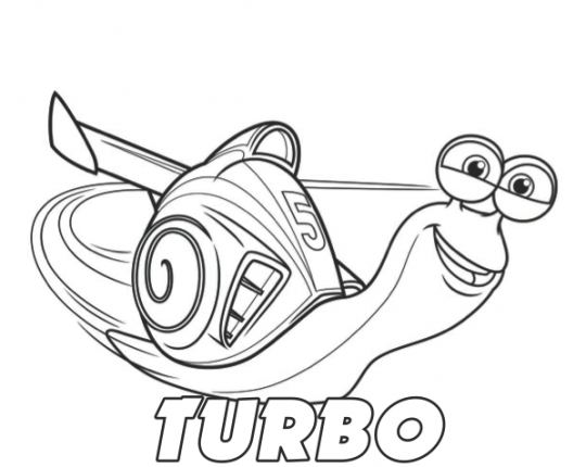 Turbo movie coloring pages