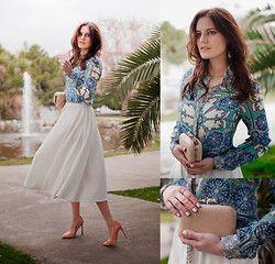 Viktoriya Sener - Mango Jeather Jacket, Zara Digital Print