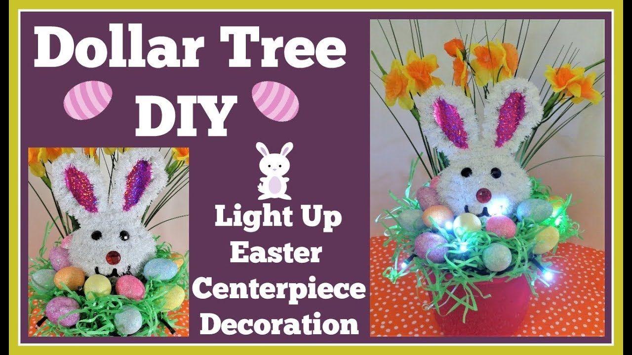 Easter Decoration Lights Up Dollar Tree DIY. Easy