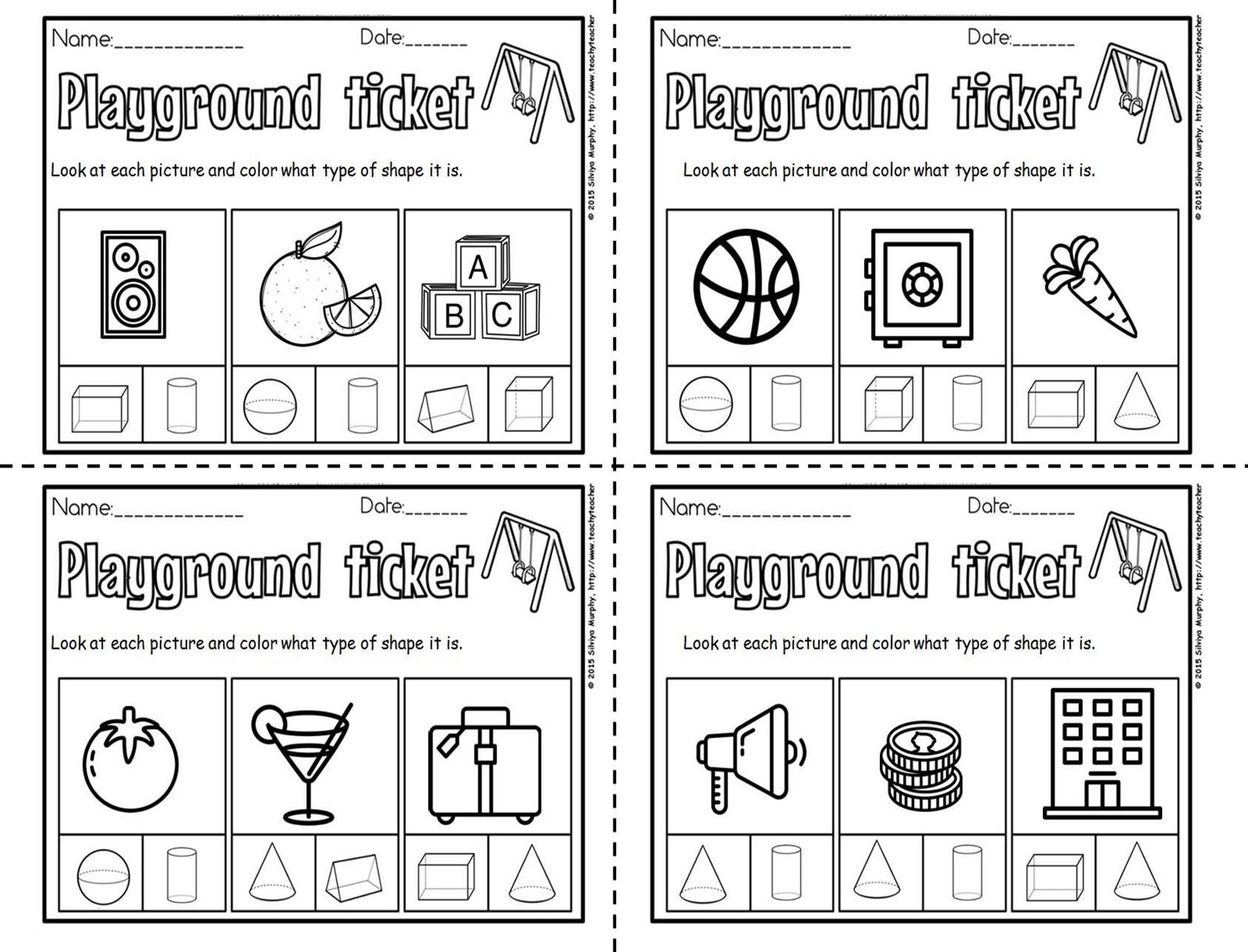 Get Your Kids Exited About 3d Shapes With These Cute Free Exit Tickets Shapes Worksheet Kindergarten Kindergarten Worksheets Shapes Worksheets [ 1285 x 1685 Pixel ]