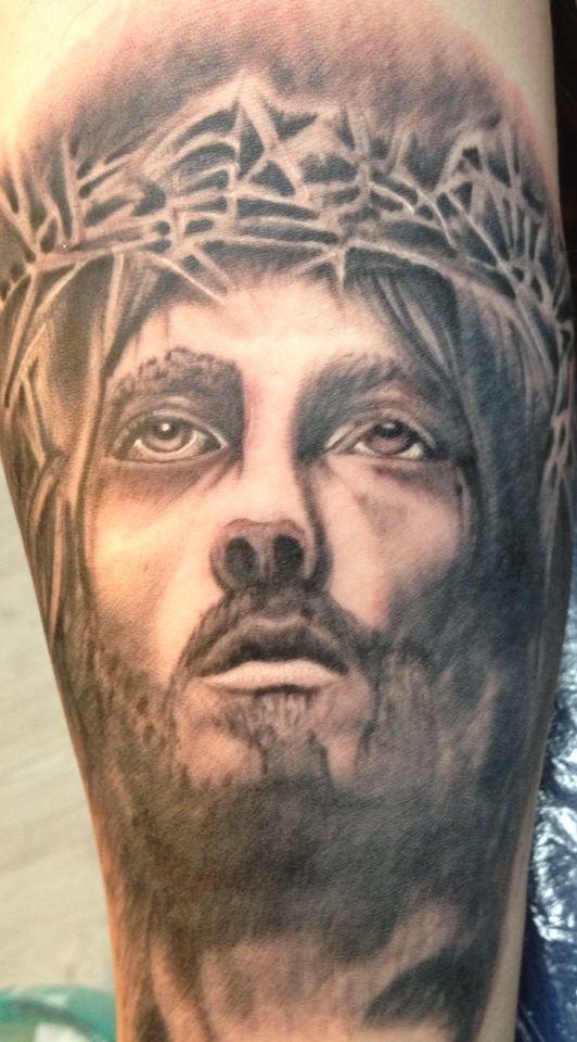 Jezus Tattoo Portret Tattoo