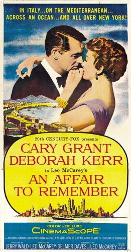 "Movie Posters:Romance, An Affair to Remember (20th Century Fox, 1957). Three Sheet (41"" X81""). ..."