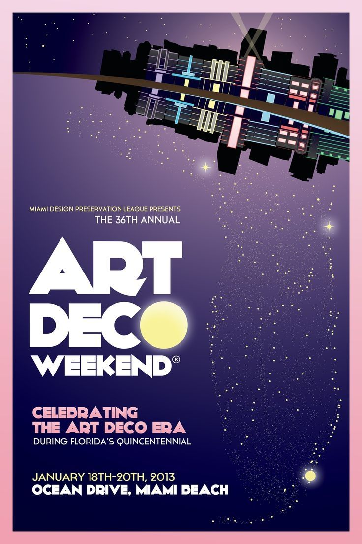 Miamis Most Iconic Architectural Style and the Annual Art Deco Weekend Poster