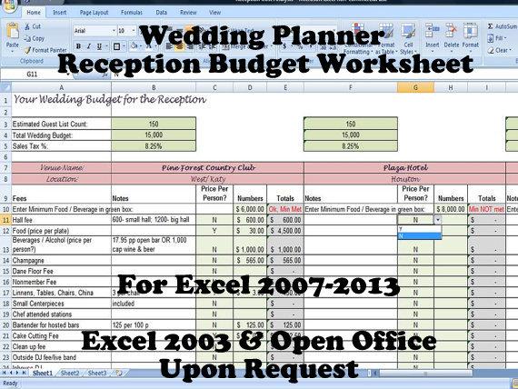 wedding budget worksheet excel kidz activities