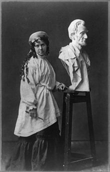 Sculptor Vinnie Ream (from Madison, WI) also designed the first free-standing statue of a Native American, Sequoyah to be placed in Statuary Hall at the US Capitol.  Vinnie Ream and her husband are buried in section 3 of Arlington National Cemetery, marked by her statue Sappho.