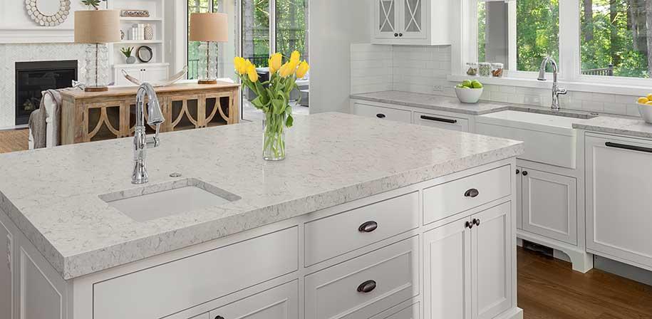 Carrara Mist Cream Quartz Countertops Q Premium Natural Quartz