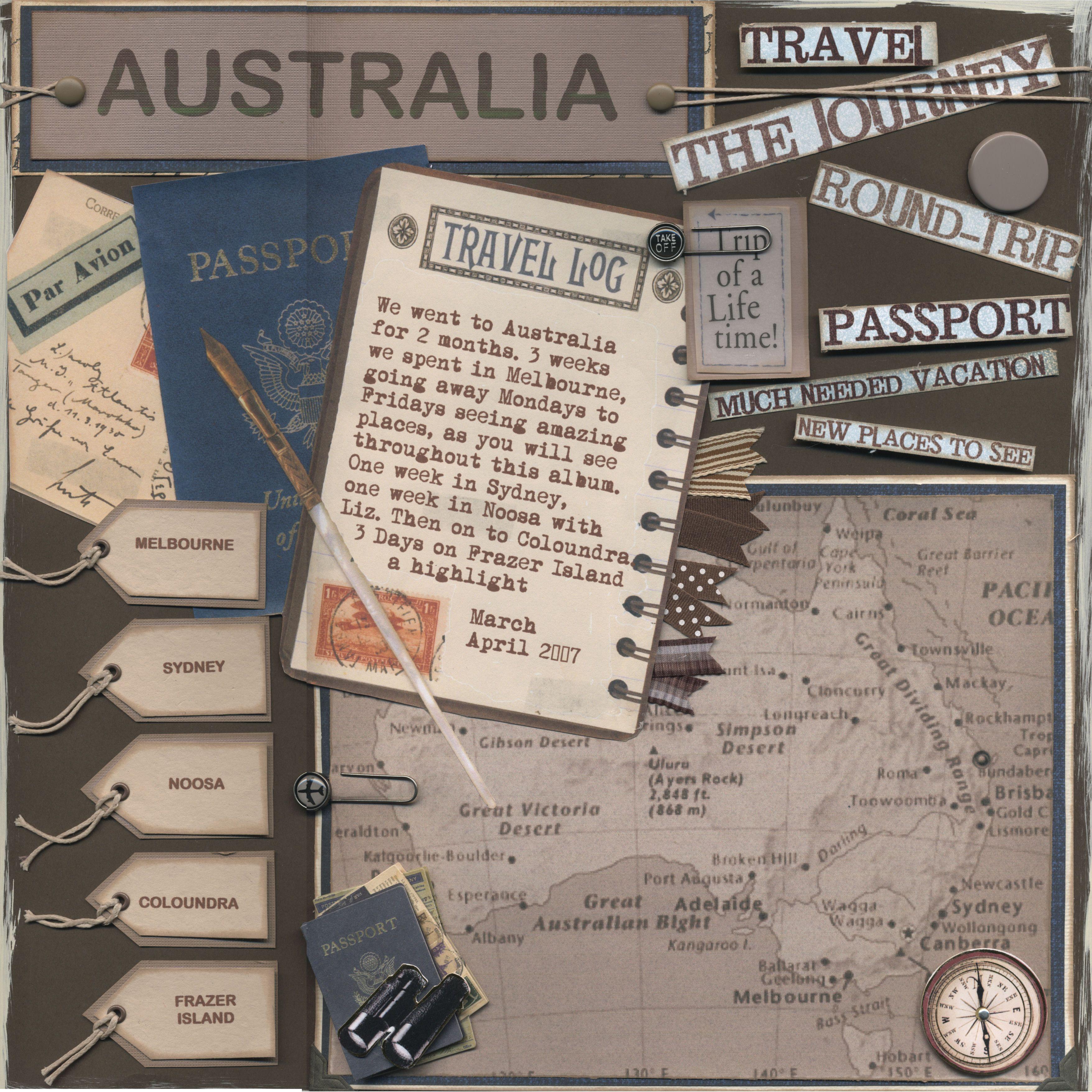 Scrapbook paper australia - Australia Cover Page Scrapbook Com